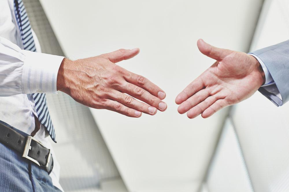 Der richtige Handschlag